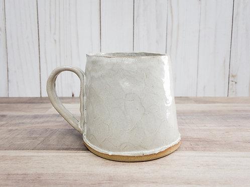 White Textured Mugs