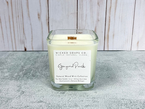 Gingered Peach Candle by Wicked Soaps Co.