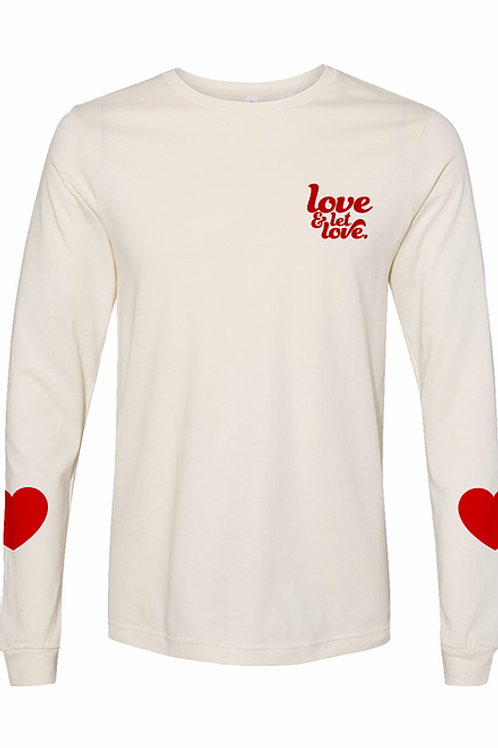 Let Love Long Sleeve T-Shirt by North East Print House