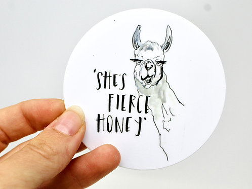 She's Fierce Sticker