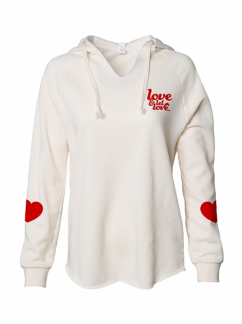 Let Love Hoodie by North East Print House