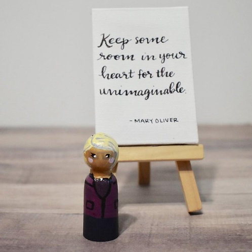 Mary Oliver Peg Doll