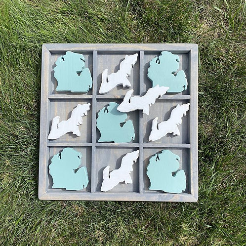 Michigan TIC TAC TOE Game by Lady Wood Goods