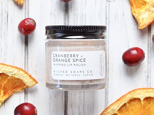 Cranberry + Orange Spice Lip Polish by Wicked Soaps Co.
