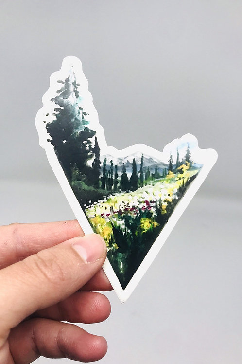 Triangle Mountain Sticker
