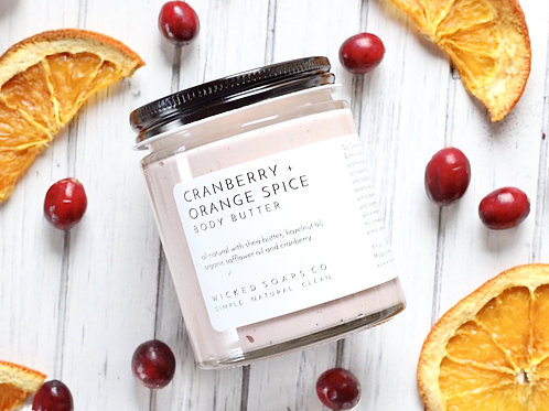 Cranberry + Orange Spice Body Butter by Wicked Soaps Co.