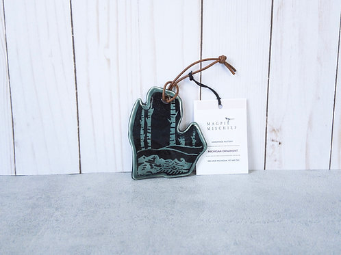 Michigan Ornament by Magpie Mischief
