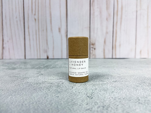 Lavender + Honey Lip Balm by Wicked Soaps Co.