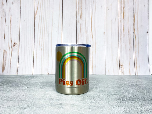 Piss Off Silver Lowball Mug by Northeast Print House