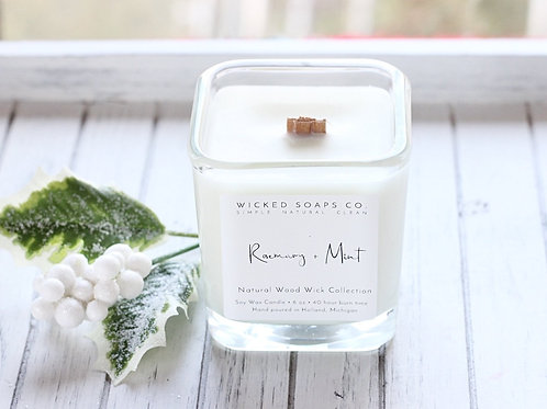 Rosemary + Mint Candle by Wicked Soaps Co.