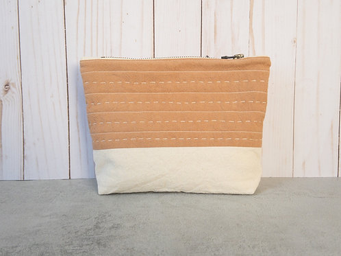 Quilted Zipper Pouch by Fieldhouse Studio