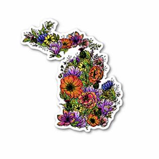 MI Flower Sticker by Northeast Print House