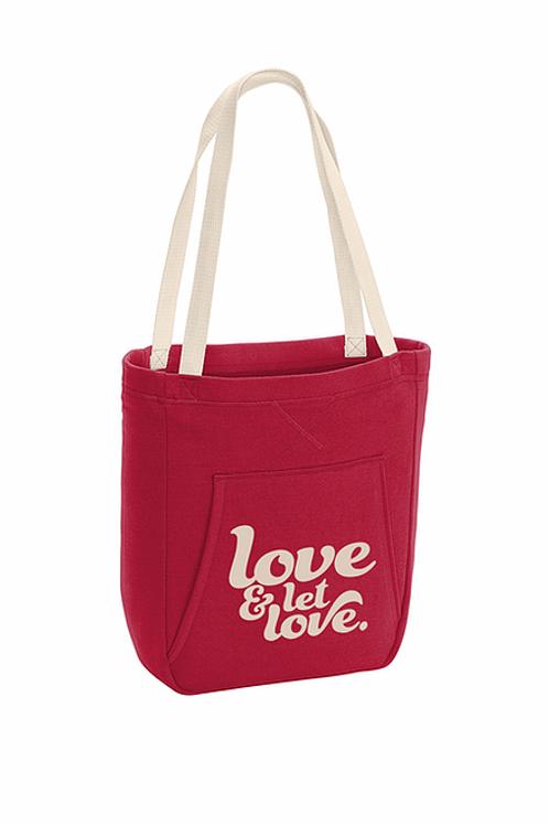 Let Love Hoodie Tote by North East Print House