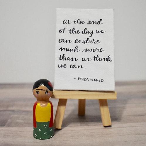 Frida Kahlo Peg Doll