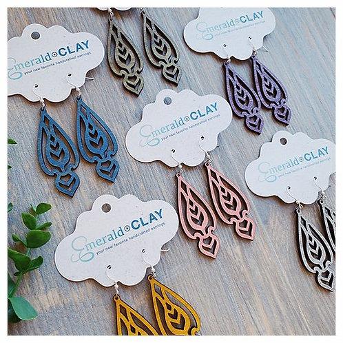 Spade Wood Earrings