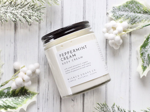 Peppermint Cream Body Cream by Wicked Soaps Co.