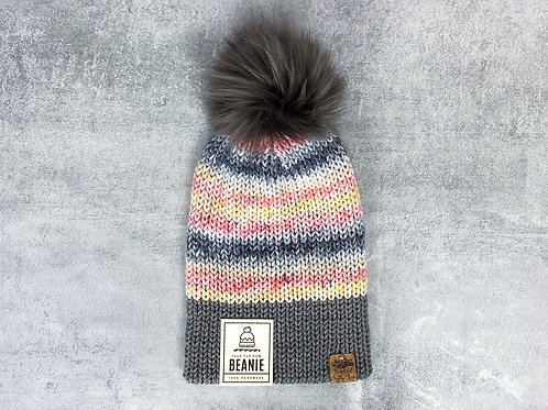Knitted Beanie with Pom by Beautiful Crafty Chaos