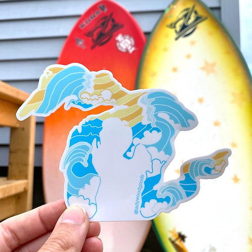 Great Lakes Sticker by Lady Wood Goods
