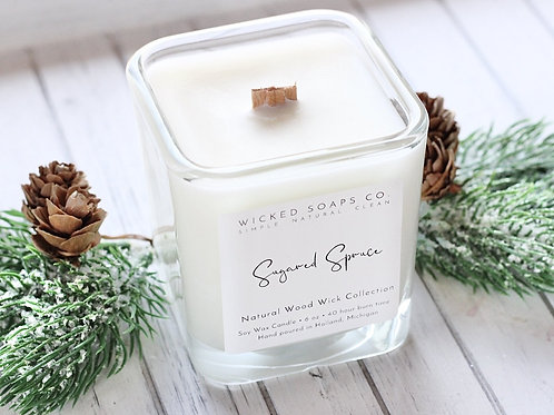 Sugared Spruce Candle by WIcked Soaps Co.