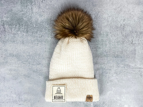 Knitted Beanie with Brim by Beautiful Crafty Chaos