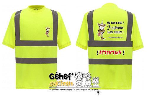 Tee-shirt col rond HV unisex - TIREZ PAS ! CHIEN - HVJ410