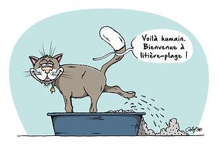 Litière pour chat - Bac à litière pour chat - Armoire à litière pour chat - Meuble à litière pour chat - Meuble chat design - Cab'minet© - Illustration Cab'minet©