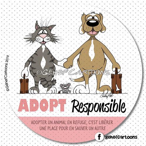 "Autocollant ""Adopt Responsible"""