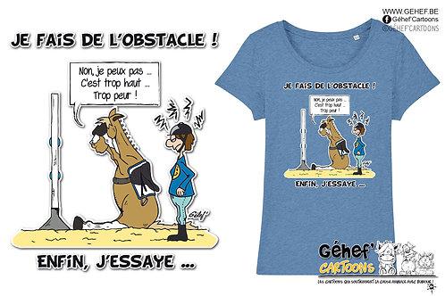 Tee-shirt femme - J'ESSAIE L'OBSTACLE - SS017