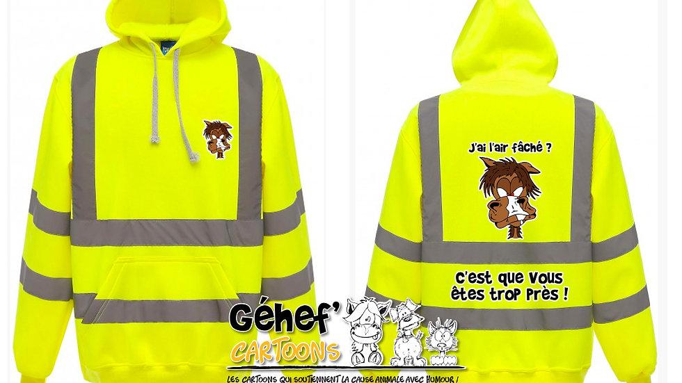 Sweat-shirt hoodie haute visibilité unisex - DISTANCES - HVK05