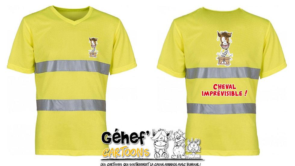 Tee-shirt col V haute visibilité unisex - IMPRÉVISIBLE - HVJ910