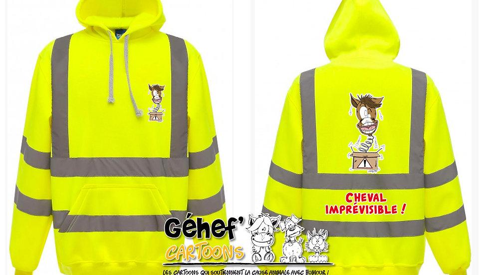 Sweat-shirt hoodie haute visibilité unisex - IMPRÉVISIBLE - HVK05