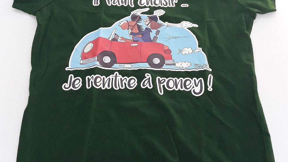 "Tee-shirt femme ""Boire ou conduire"" - Taille S"