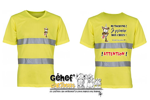 Tee-shirt col V HV unisex - TIREZ PAS ! CHIEN - HVJ910