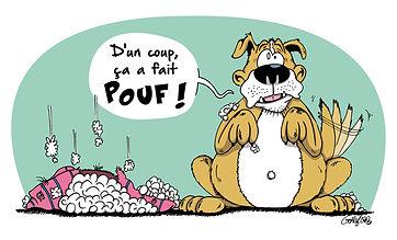 Coussin solide pour chien naturel liège matelas pour chien - Matelanimo© - Illustration Matelanimo©