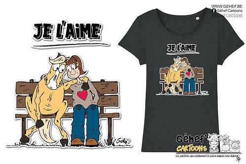 Tee-shirt femme - TFKATC JE L'AIME - SS017