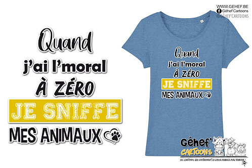 Tee-shirt femme - Sniffe animaux - SS017