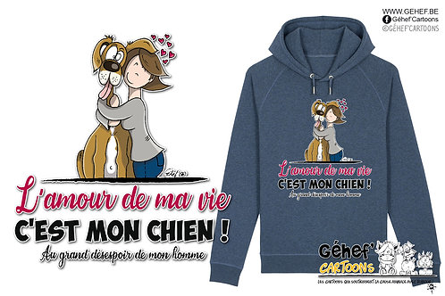 Sweat-shirt Unisex - AMOUR DE MA VIE chien-femme-couple - SS824