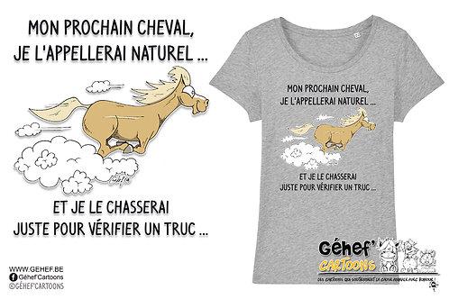 Tee-shirt femme - NATUREL AU GALOP - SS017