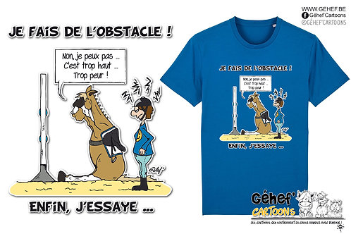 Tee-shirt Unisex - J'ESSAIE L'OBSTACLE - SS755
