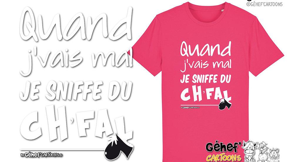 Tee-shirt Unisex - Sniffe du ch'fal - SS755