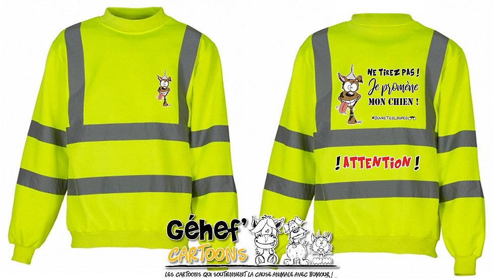 Sweat-shirt col rond HV unisex - TIREZ PAS ! CHIEN - HVJ510