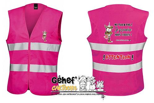 Gilet HV femme - TIREZ PAS ! CHIEN - R334F