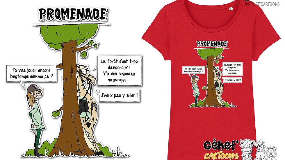 Tee-shirt femme - TFKATC PROMENADE - SS017