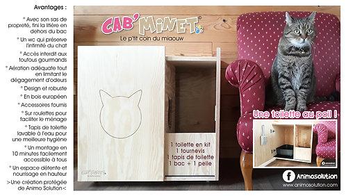 Cab'minet© - Meuble de toilette pour chats
