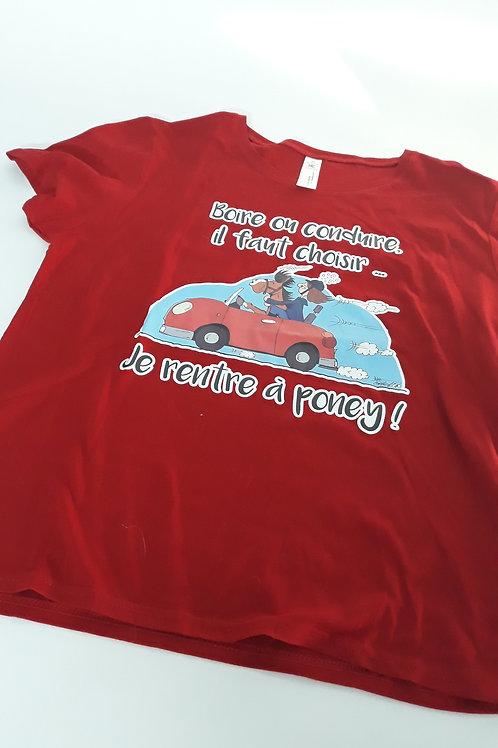 """Tee-shirt femme """"Boire ou conduire"""" - Taille XL"""