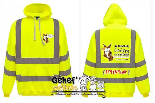 Sweat-shirt hoodie haute visibilité unisex - TIREZ PAS SUR LE CH'FAL - HVK05