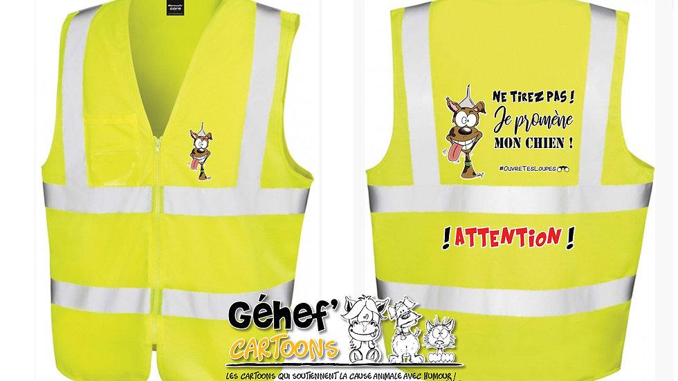 Gilet HV unisex - TIREZ PAS ! CHIEN - R202X