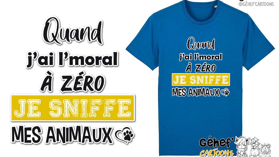 Tee-shirt Unisex - Sniffe animaux - SS755