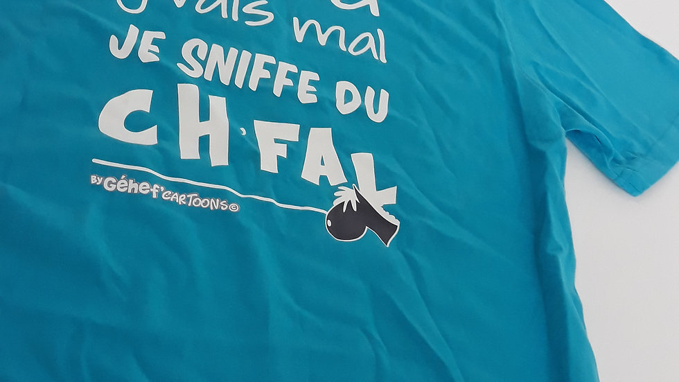 """Polo unisex """"Sniffe du ch'fal"""" - Taille S"""