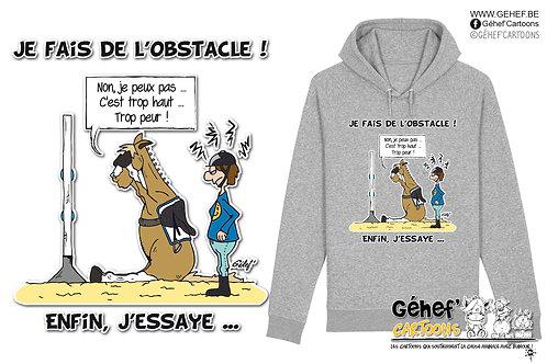 Sweat-shirt Unisex - J'ESSAIE L'OBSTACLE - SS824